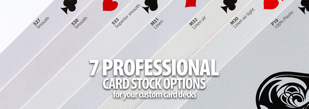 playing cards paper stock