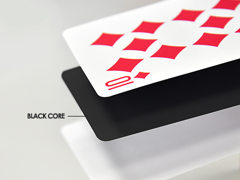 S33 superior smooth card stock with black core (smooth finish)