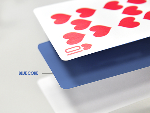 S27 promotional card stock with blue core (smooth finish)