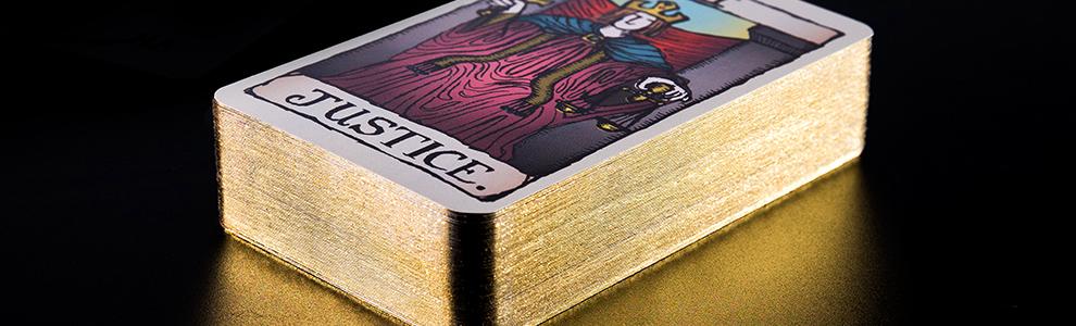 Gold Gilded Tarot Cards