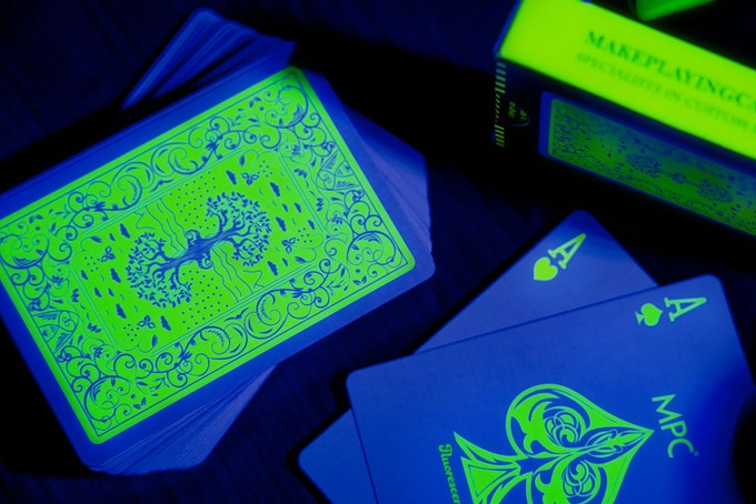 The Fluorescent playing cards