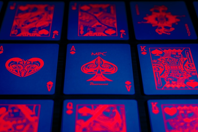 Fluorescent Playing Cards