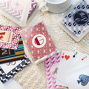 Monogrammed Playing Cards