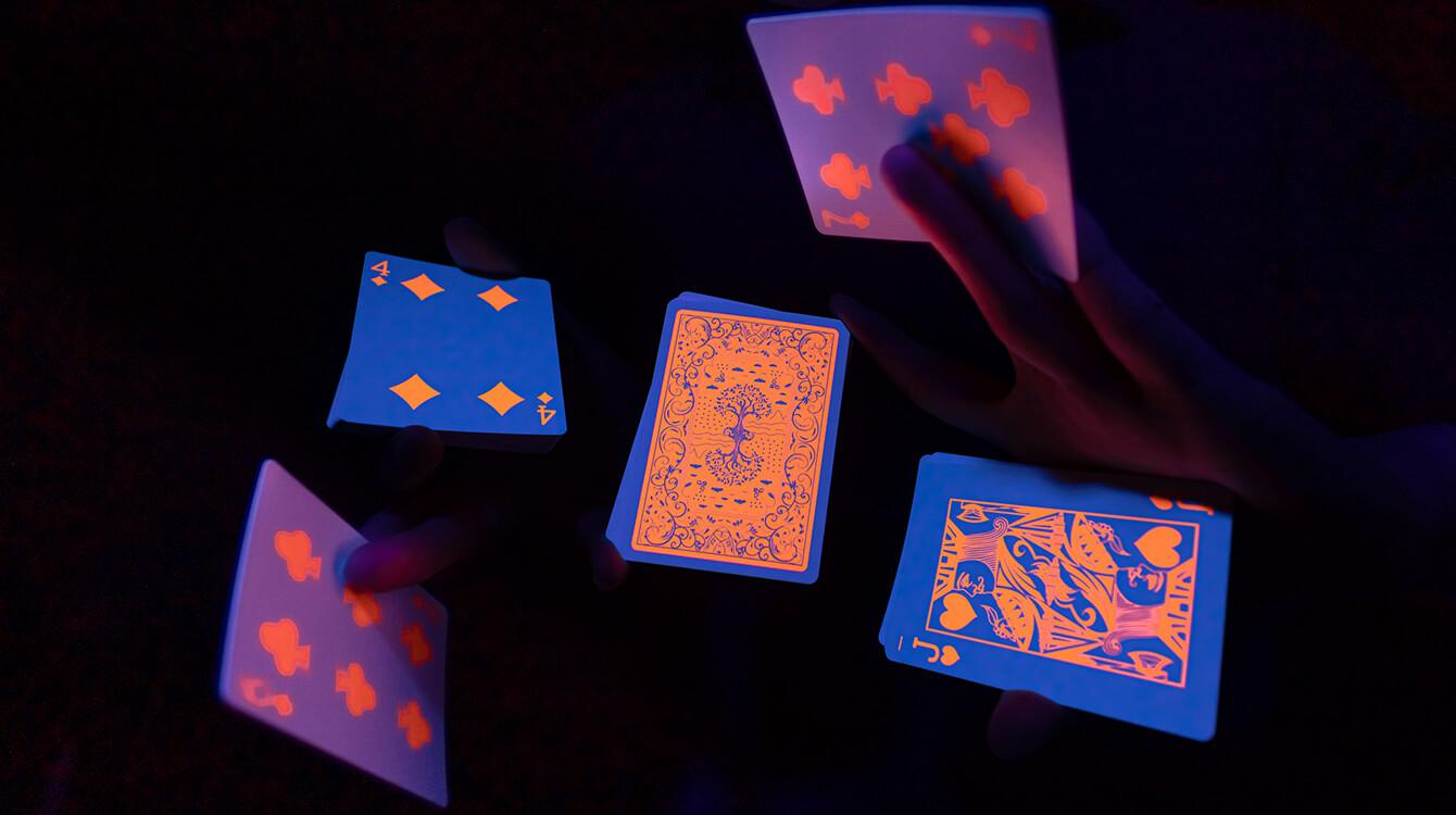 Fluorescent ink printing