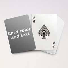 personalize playing cards