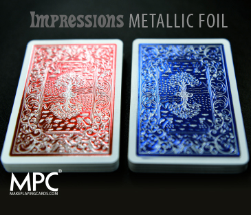 Impressions Metallic Foil Back Playing Cards