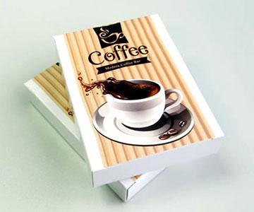 coffee shop card deck box