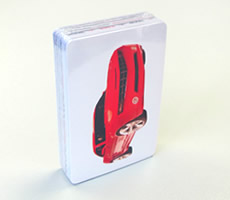 Shrink-wrapped playing cards
